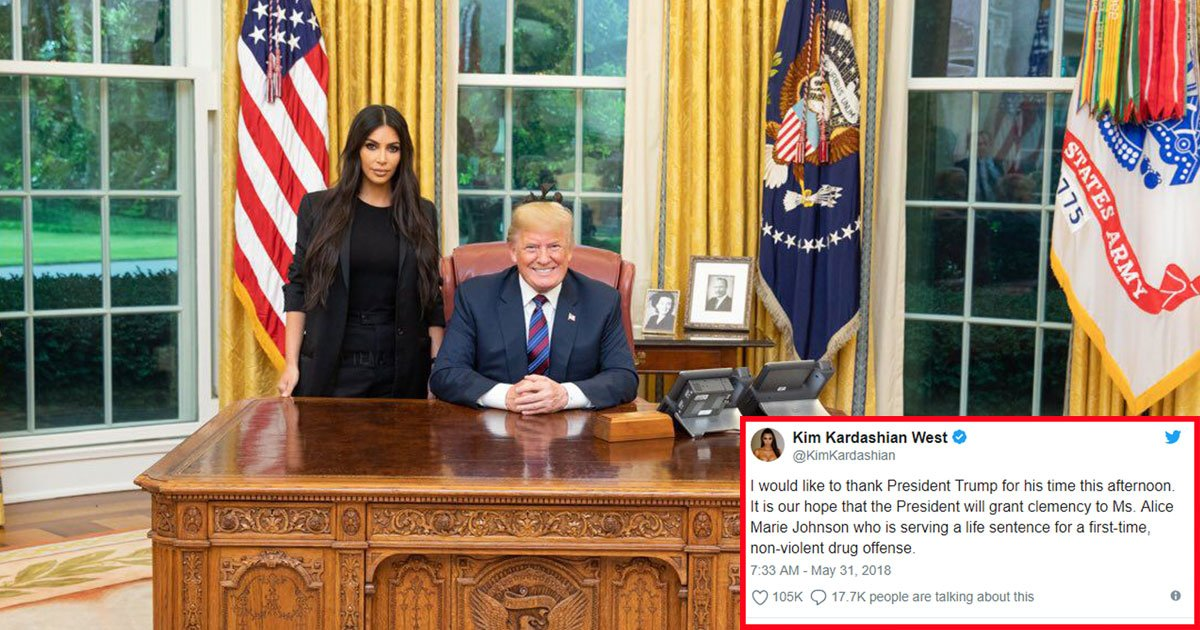 untitled 1 9.jpg?resize=300,169 - Kim Kardashian Meets Donald Trump In The Oval Office To Discuss The Prison Reform And Clemency For An Imprisoned Drug Offender