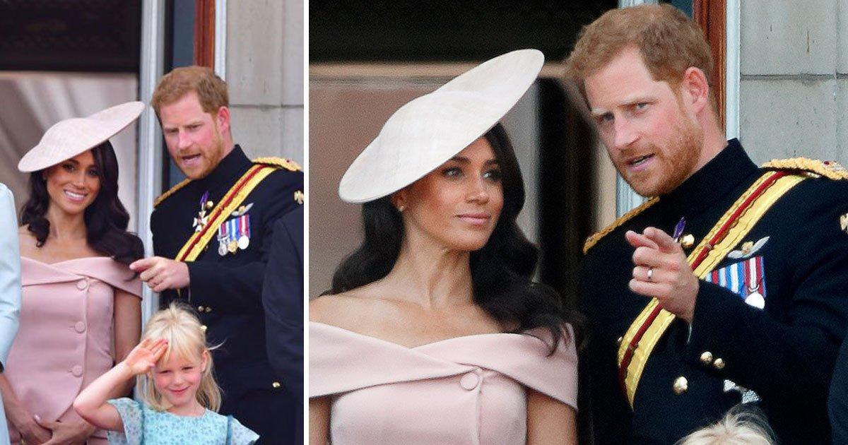 """untitled 1 96.jpg?resize=300,169 - Meghan demande à Harry quand faire sa révérence à la reine pendant la cérémonie """"the Flypast Color"""""""