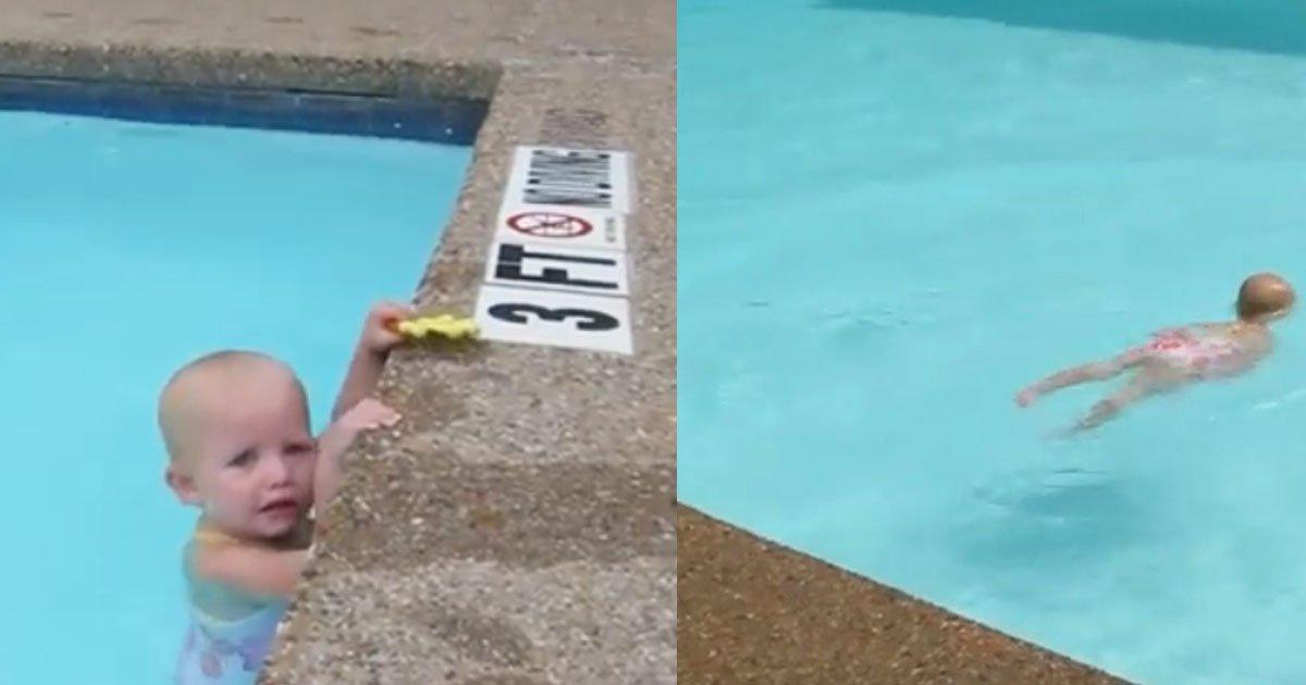 untitled 1 98.jpg?resize=648,365 - Menininha começa a nadar assim que pai lhe diz para ir - e impressiona por fazê-lo nessa idade!