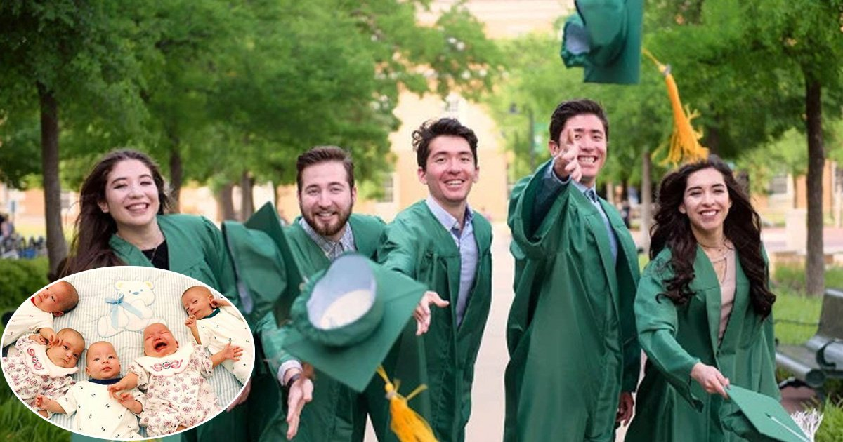 vds.jpg?resize=636,358 - Quintuplets Graduate On The Same Weekend Together After Being Together For Their Entire Lives- Their Father Couldn't Be More Proud Of Them