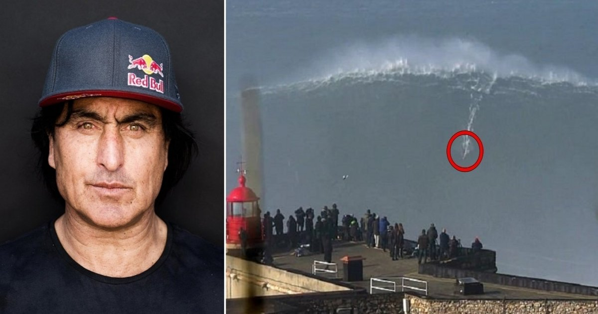 wave.jpg?resize=1200,630 - Fearless 50-Year-Old Surfer Rides Monster Wave In Portugal