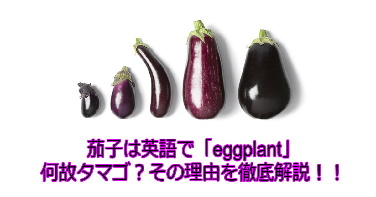 1 107.jpg?resize=1200,630 - 【謎】【茄子の歴史】実はタマゴの植物だった?ナスが英語で「eggplant」な理由は?