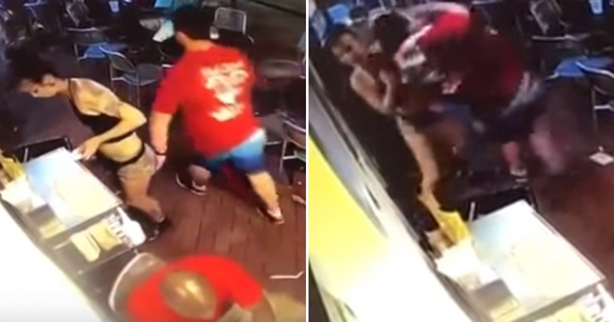 1 328.jpg?resize=636,358 - Part-Time Female Restaurant Staff Takes Down Man Who Tried To Harass Her