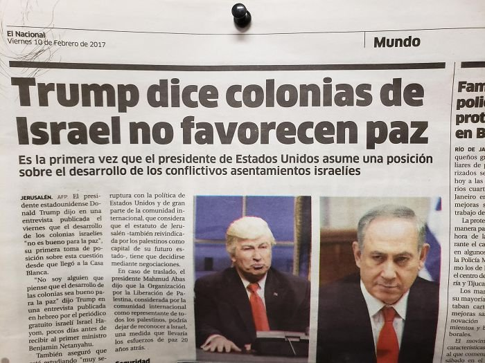 This News Paper From The Dominican Republic Used A Picture Of Alec Baldwin As Trump