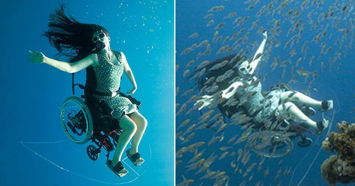 3 218.jpg?resize=1200,630 - 하반신 마비 여성의 성공적인 '스쿠버 다이빙' 도전 (영상)