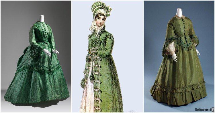 Arsenic green dresses