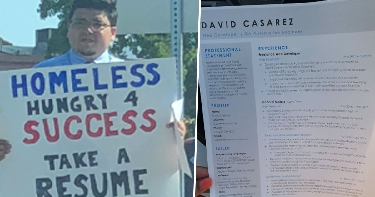 a 21.jpg?resize=636,358 - Homeless Man Approached By Tech Giants After Holding Up A Sign And Handing Out His Resume