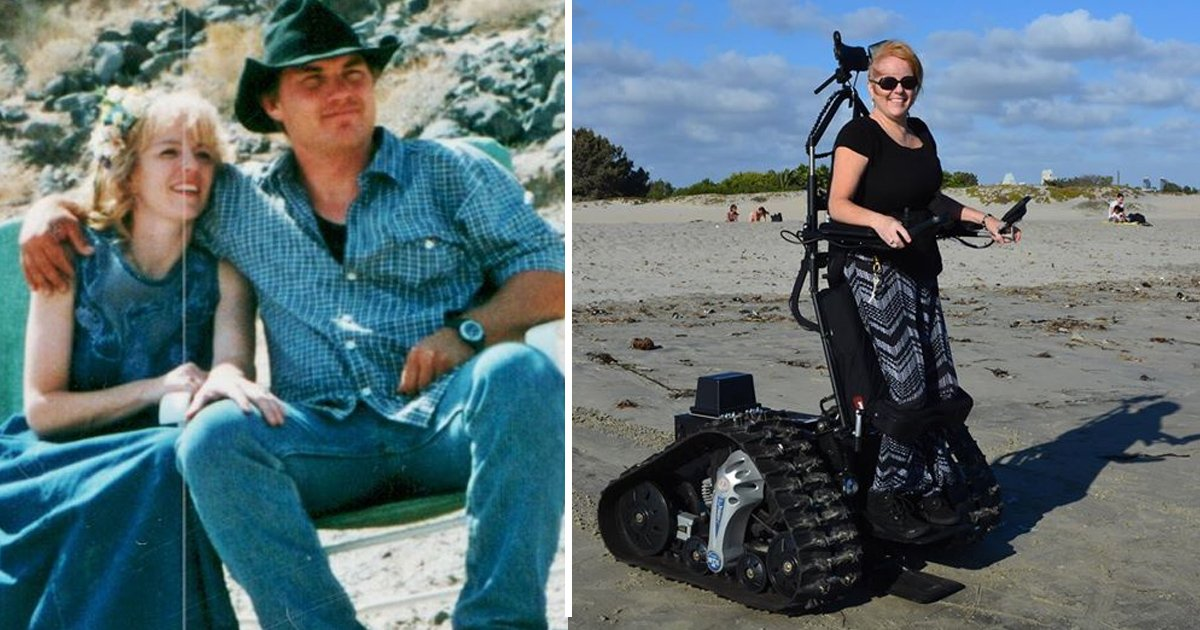 aafa.jpg?resize=636,358 - A Combat Veteran Invents 'Tankchair' For His Paralyzed Wife. She Is Now Able To Go To Family Outdoor Trips Again