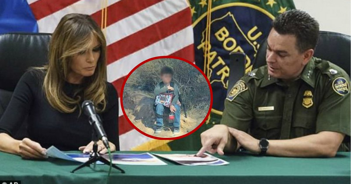 abandoned by uncle.jpg?resize=636,358 - Melania Trump Exclaims 'Oh God' After Seeing A Photo Of A Boy Abandoned In The Arizona With A Heart-Breaking Note