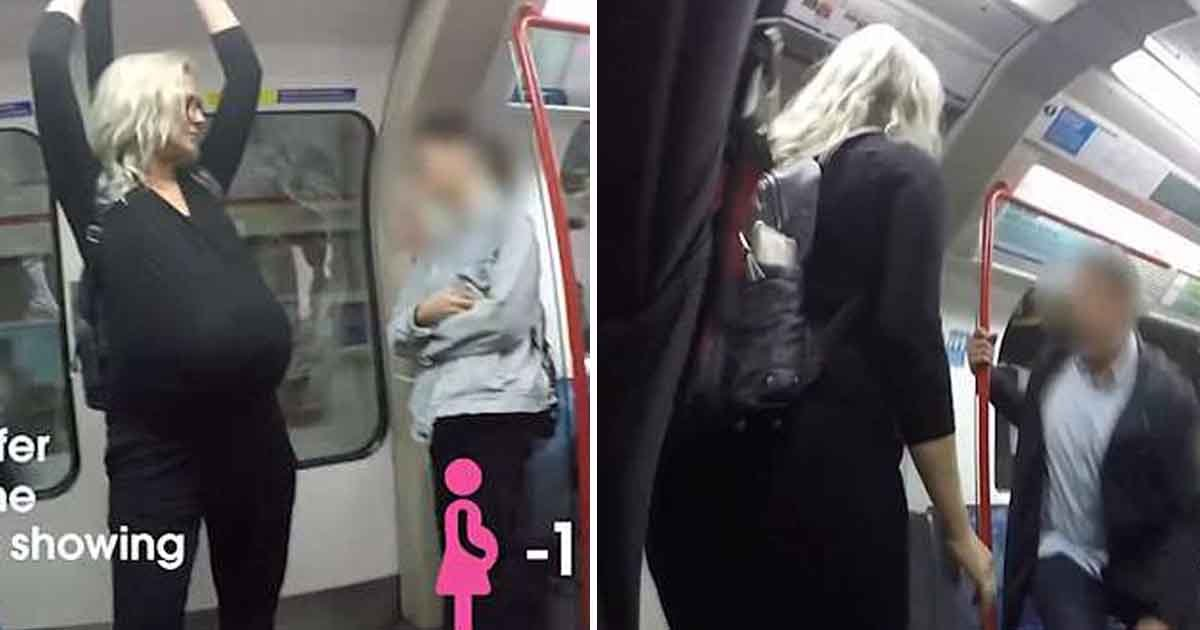 adfasd.jpg?resize=1200,630 - Commuters Ignore Expectant Mother On Sweltering London Underground – Refuses To Give Their Seats To A Heavily Pregnant Woman