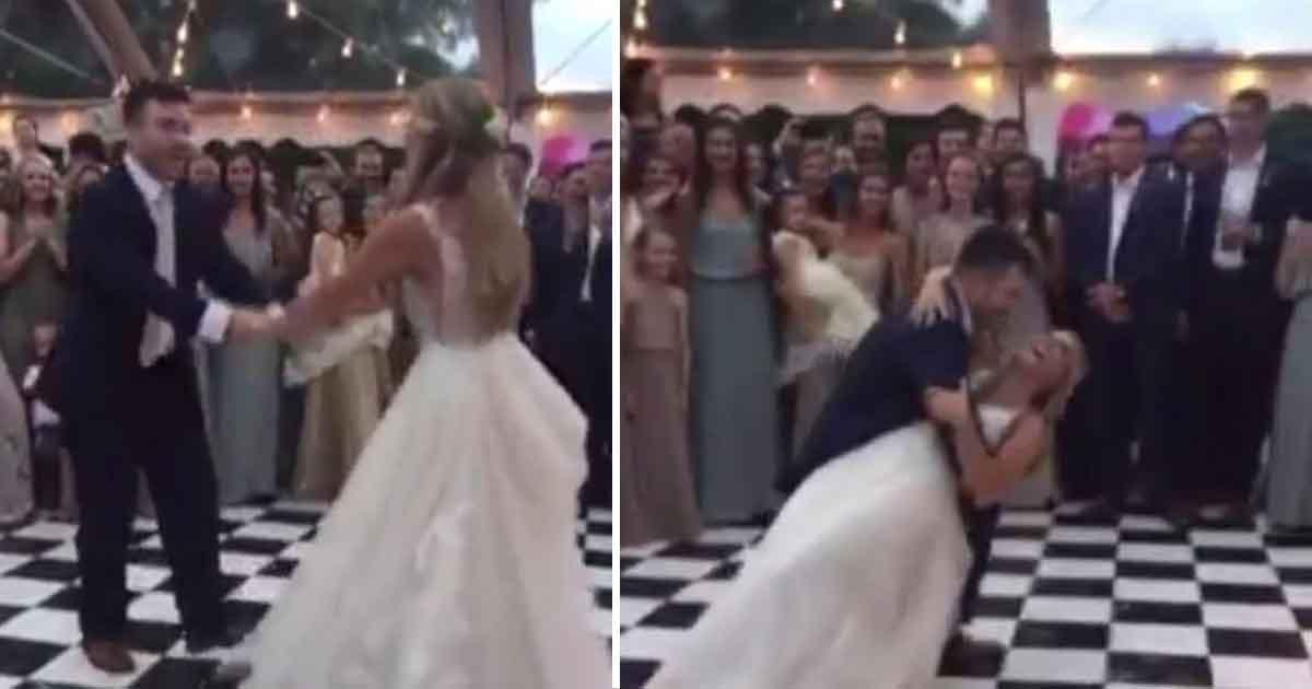 adsfdasf.jpg?resize=412,232 - Recién casados causan furor en su fiesta de recepción con el baile que practicaron durante 3 meses