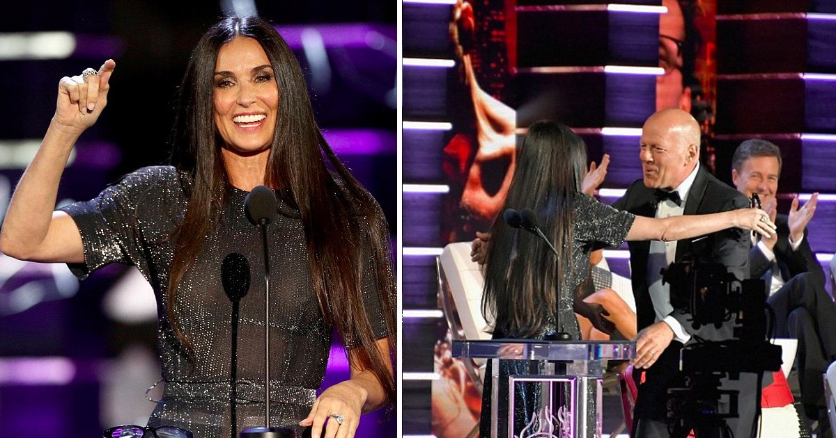 afaa 1.jpg?resize=636,358 - Demi Moore Cracks Jokes At Her Ex-husband Bruce Willis' Expense During His Comedy Roast