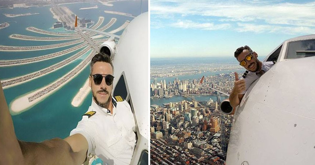 afaaa 2.jpg?resize=412,232 - Un pilote prend un tas de selfies de l'extérieur de la fenêtre du cockpit