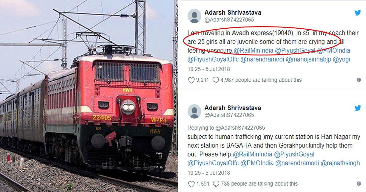 afafafaaa.jpg?resize=1200,630 - Un passager de train aide à sauver 26 filles mineures des mains de trafiquants humains avec un seul Tweet