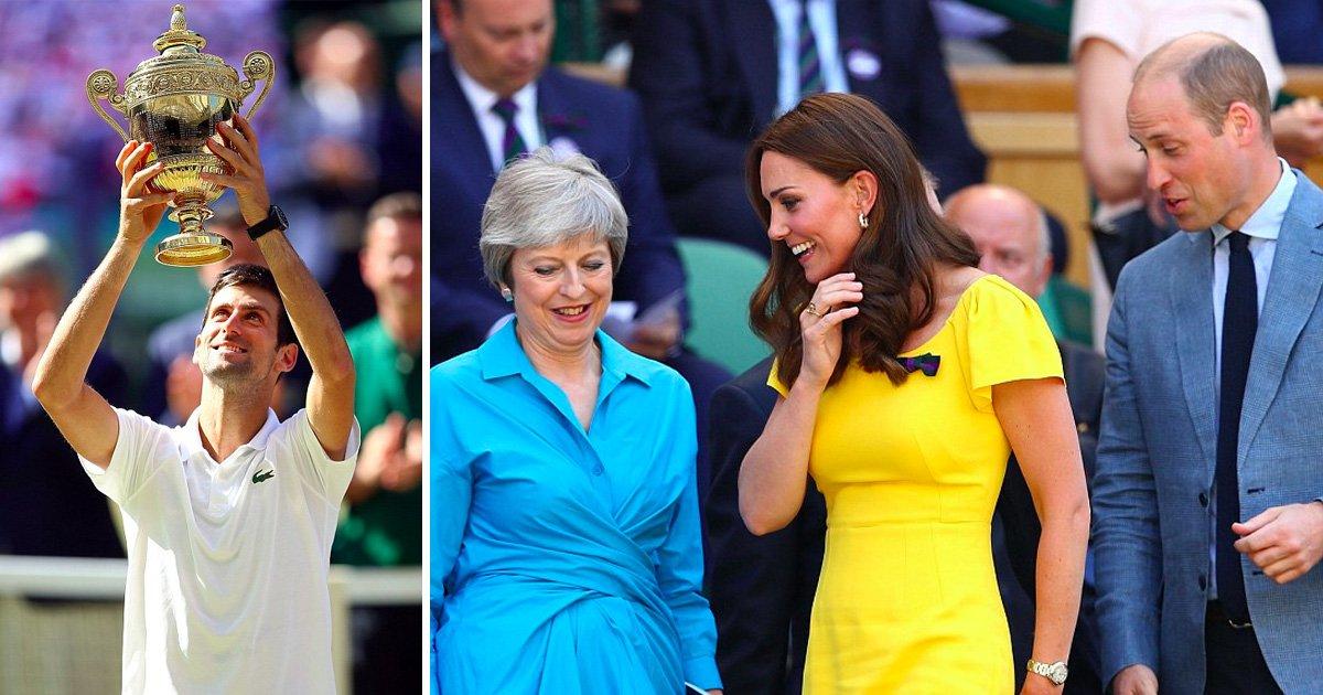 afda 1.jpg?resize=1200,630 - Duque e Duquesa de Cambridge comparecem nas finais de Wimbledon enquanto Novak Djokovic vence adversário em três sets seguidos