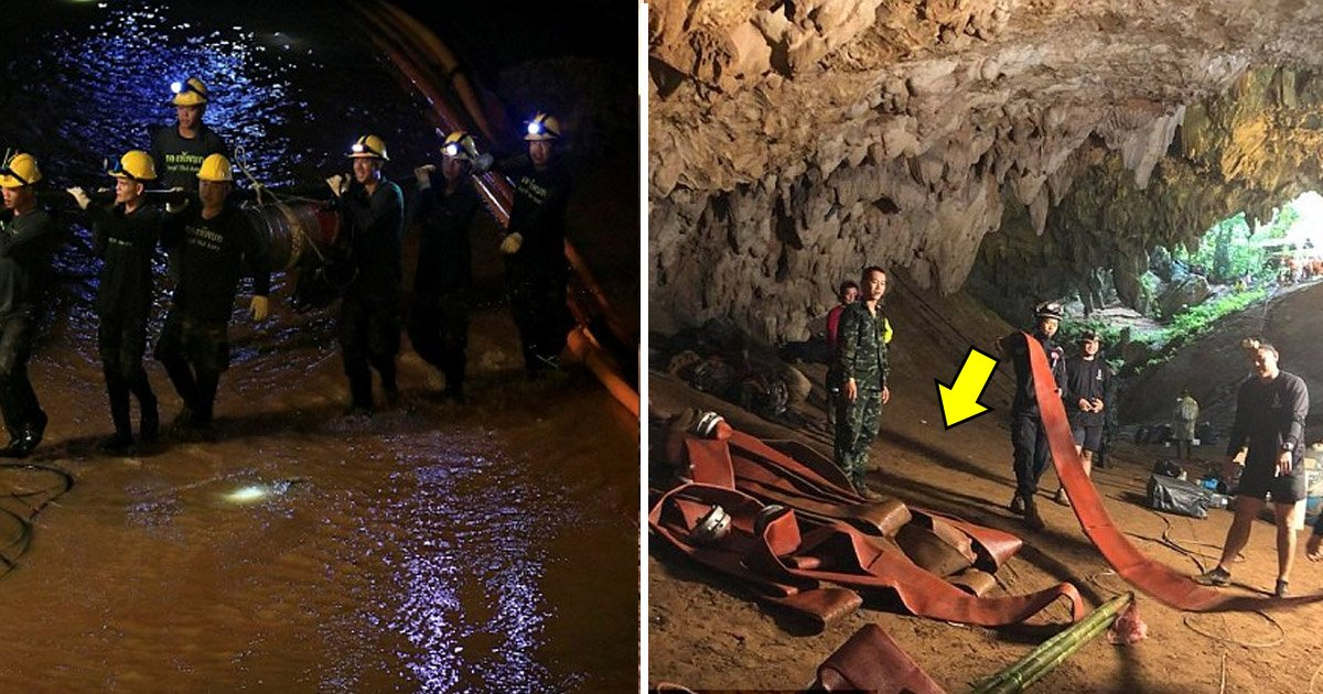 afdaafa.jpg?resize=636,358 - Rescue Operation Of 12 Youth Footballers And Their Coach From The Thai Cave Nearly Ended In Disaster After The Draining Pump Failed To Work