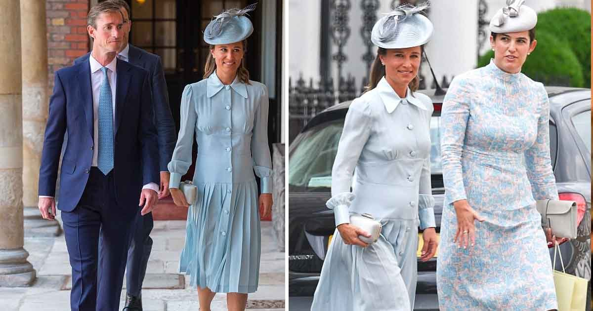agasg.jpg?resize=636,358 - Pippa Middleton Looks Glowing with a Baby Bump in Her Shade of Blue as She Arrived for Prince Louis' Christening