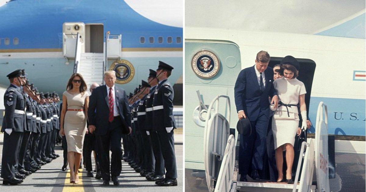 air force one.jpg?resize=1200,630 - Trump peindra le nouveau Air Force One en rouge, blanc et bleu et remplacera le design de Jackie Kennedy.