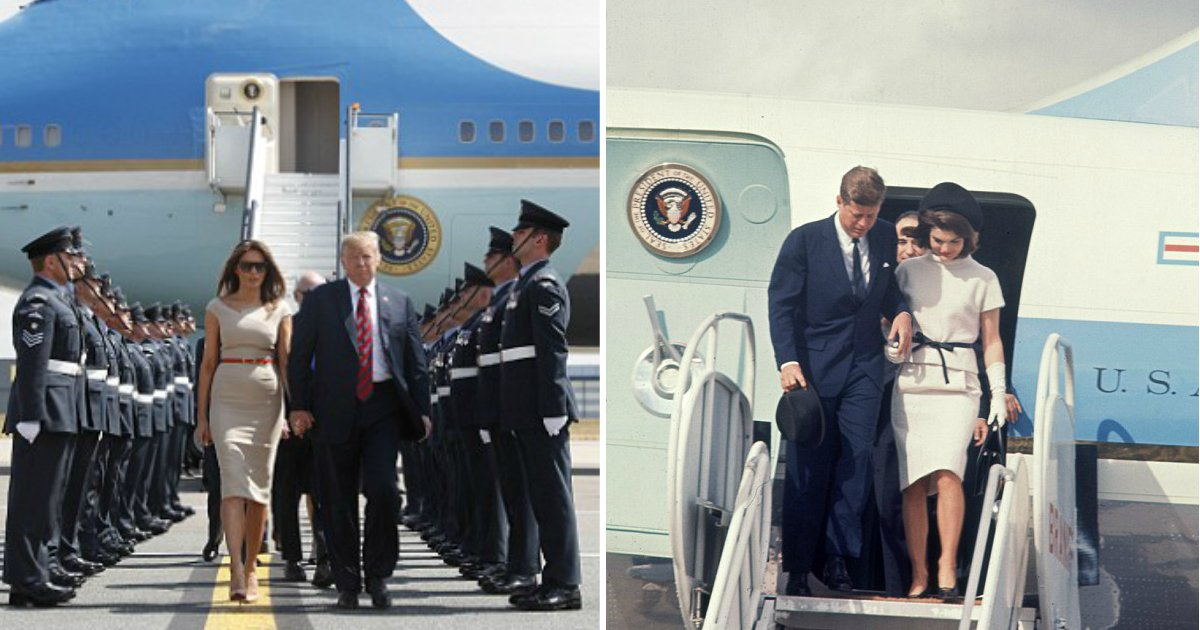 air force one.jpg?resize=636,358 - Trump Will Paint The New Air Force One Red, White, And Blue And Replace The Jackie Kennedy's Design