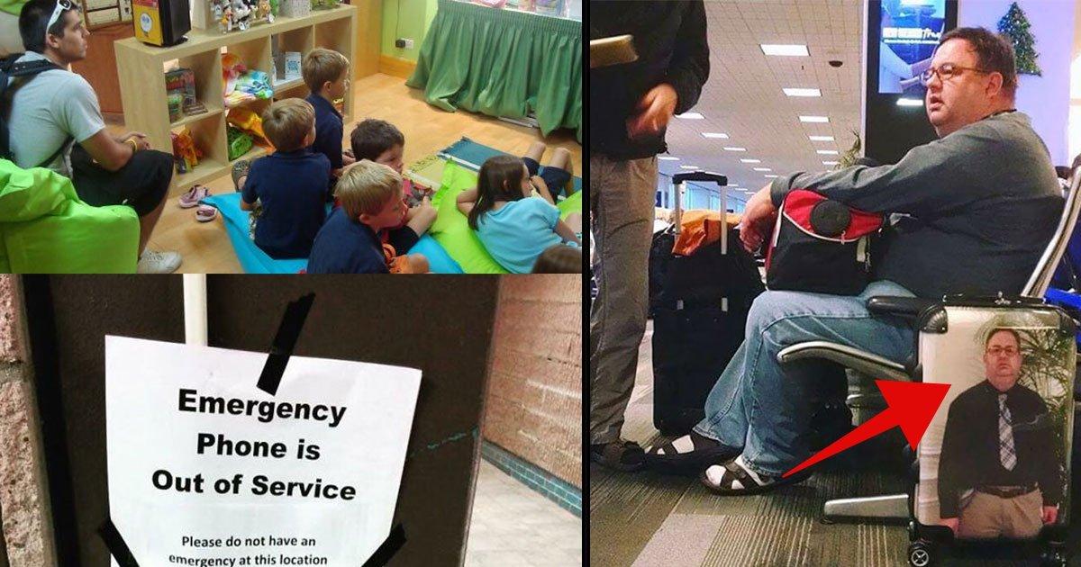 airport funny moments 1.jpg?resize=648,365 - Ces 15 photos de personnes coincées à l'aéroport sont vraiment géniales