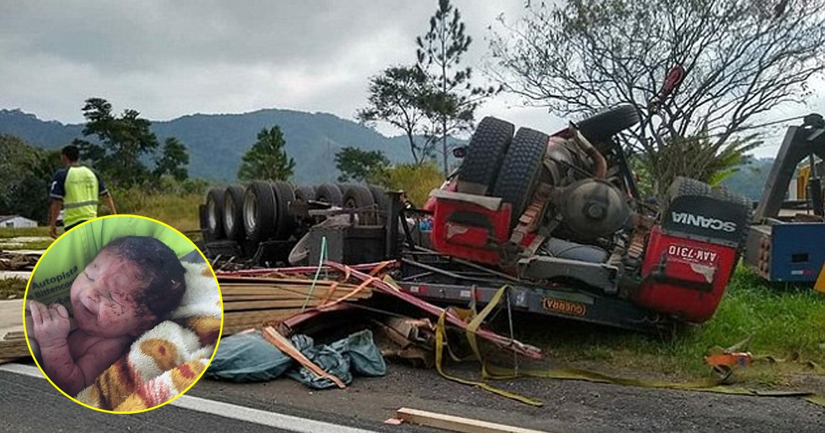 alfdjladjf.jpg?resize=412,232 - Baby Miraculously Survived A Fatal Road Accident