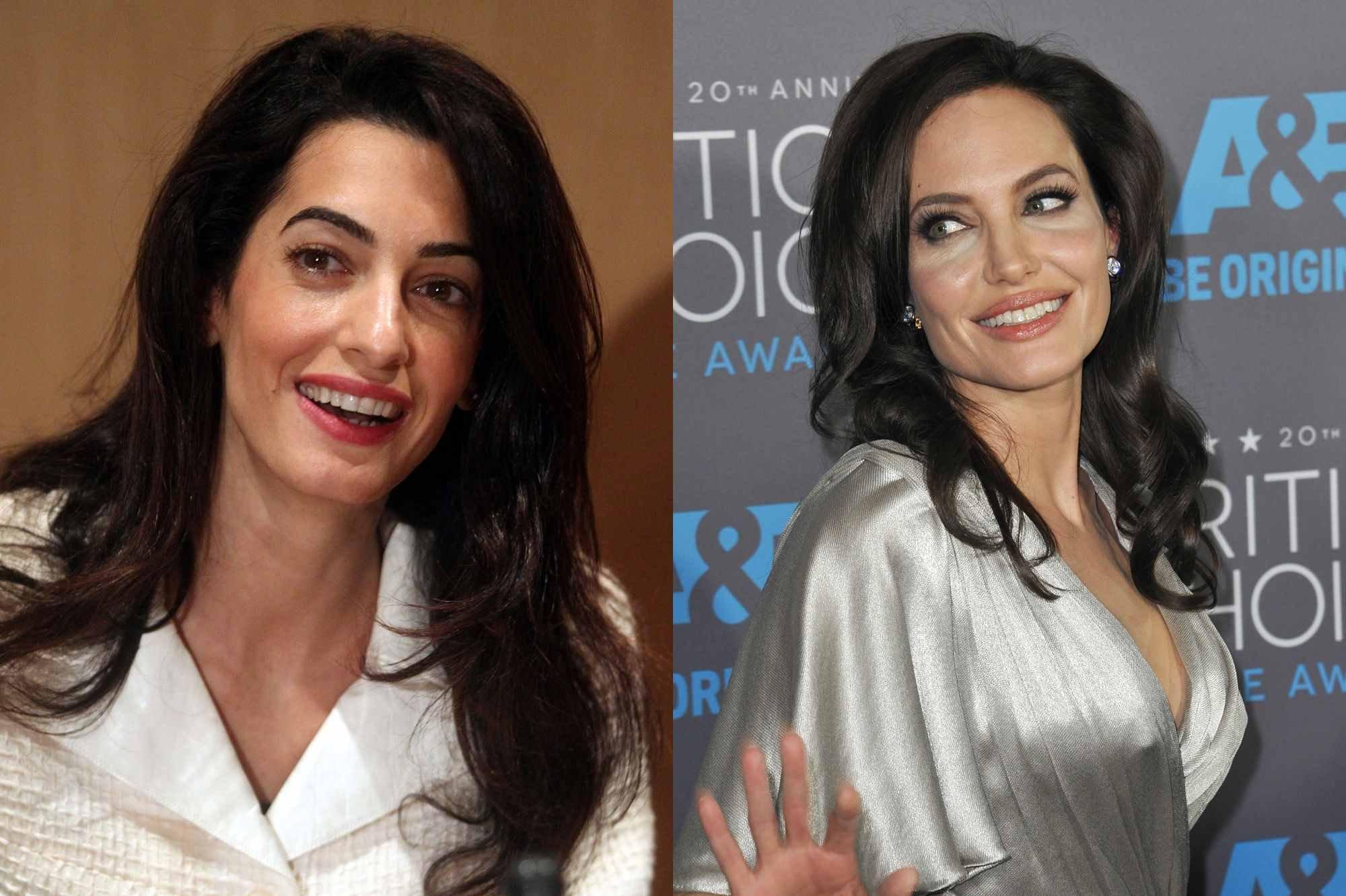 """amal clooney angelina jolie.jpg?resize=1200,630 - Fontes afirmam que relação entre Angelina Jolie e Amal Clooney é de """"rivalidade e ódio"""""""