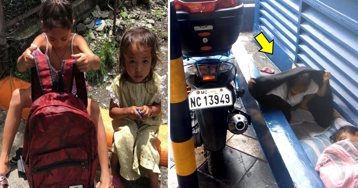 atat.jpg?resize=636,358 - Une fillette sans abri de 8 ans filmée en train de faire ses devoirs sous une pluie battante