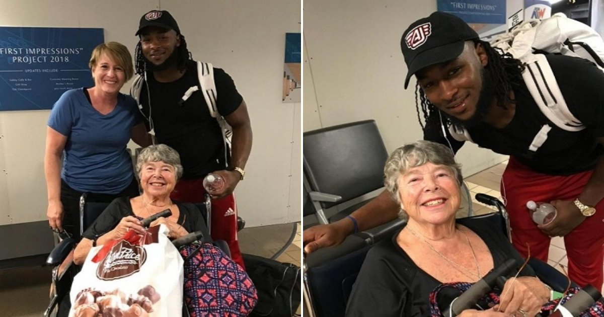 b side.jpg?resize=412,232 - Aaron Jones Helped A Woman In Wheelchair At Airport And His Random Act Of Kindness Has Gone Viral