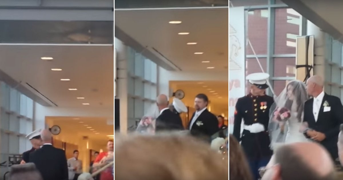 br.jpg?resize=636,358 - Marine Flies Thousands Of Miles From Japan To Iowa To Surprise His Sister At Her Wedding