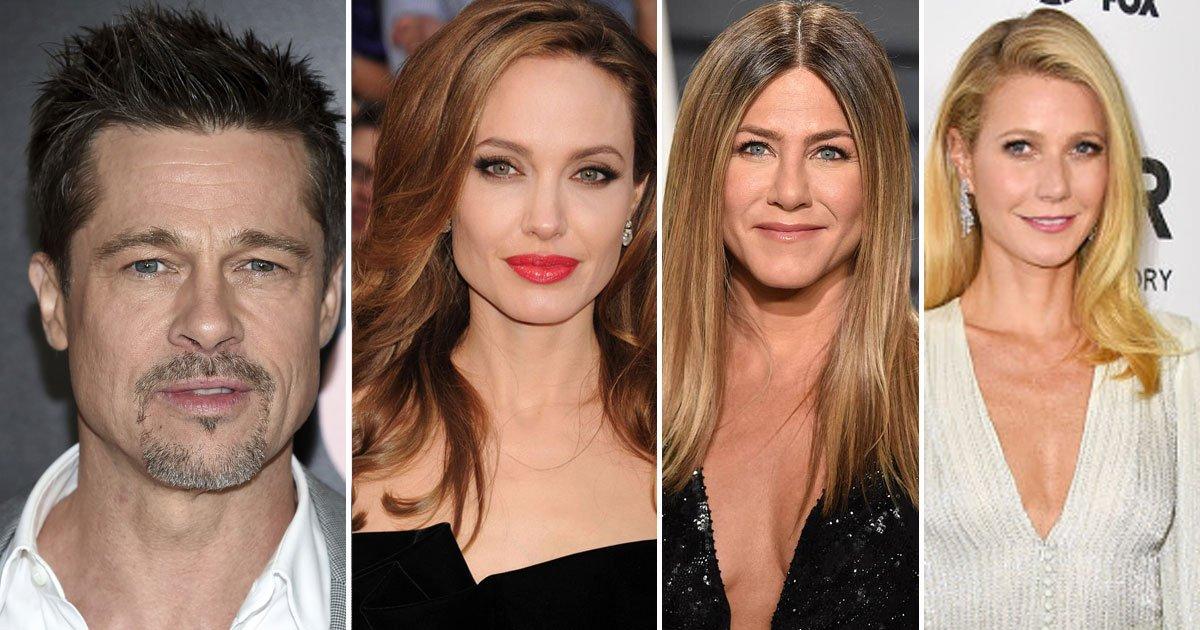 brad pitt girlfriends angelina jennifer.jpg?resize=636,358 - A Twitter Post 'Brad Pitt Looks Like His Girlfriends' Went Viral And Left Everyone Stunned