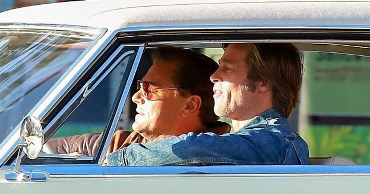 brad pitt leonardo dicorpio once upon a time in hollywood.jpg?resize=1200,630 - Brad Pitt et Leonardo DiCaprio sensationnels lors du tournage d'«Il était une fois à Hollywood»