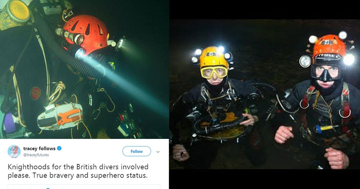 british cave divers.jpg?resize=1200,630 - British Cave Divers To Be Knighted After Their Heroic Efforts To Save Thai Football Team