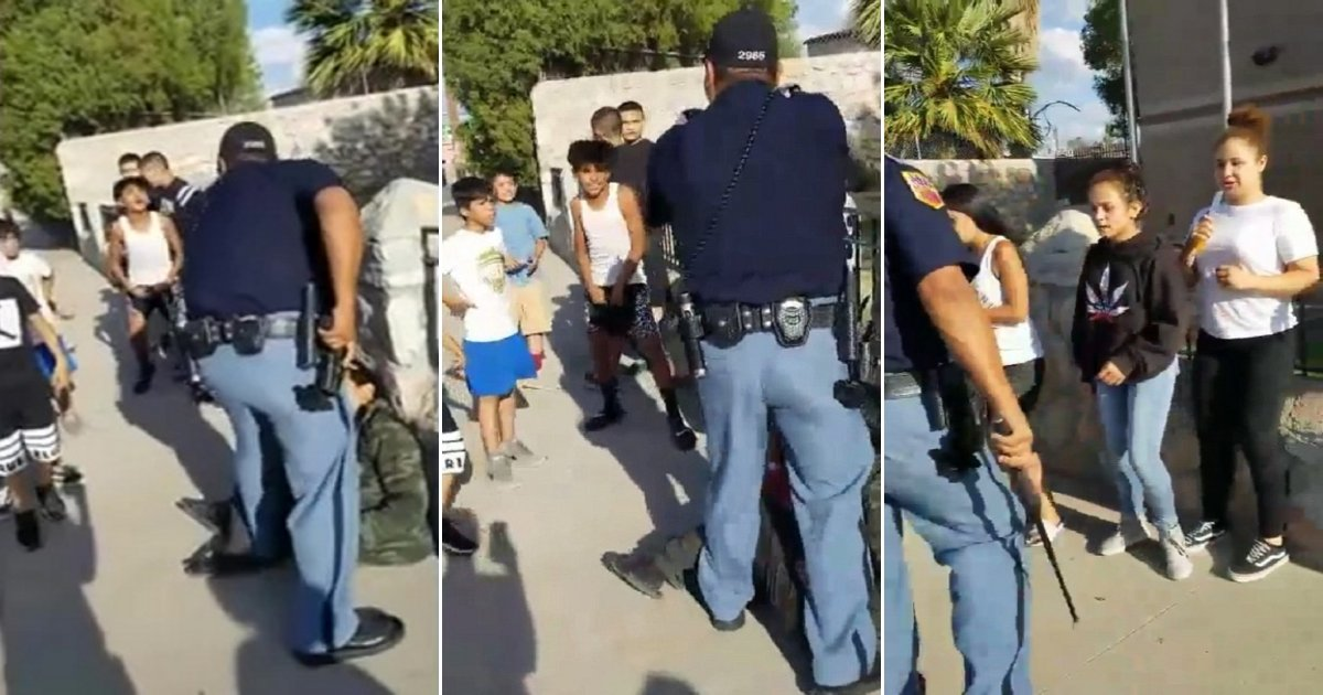 c1 side.jpg?resize=1200,630 - Irate Texas Cop Pulls Out His Gun And Points It At A Group Of Unarmed Children