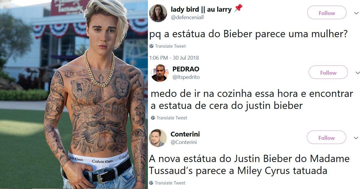 """capa11111.png?resize=300,169 - Estátua de cera de Justin Bieber é atualizada em museu e os internautas não perdoam: """"Muito afeminado"""""""