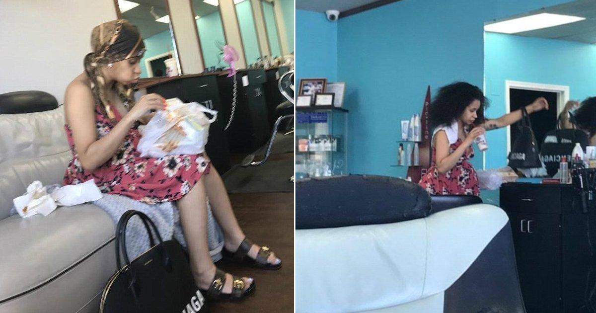 cardi b before birth.jpg?resize=636,358 - Cardi B aperçue au naturel dans un salon de coiffure, quelques heures avant de donner naissance à son premier bébé.