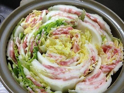 白菜と豚バラ肉のミルフィーユ鍋에 대한 이미지 검색결과