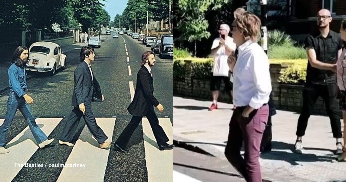 cov 2 22.png?resize=300,169 - Paul McCartney voltou a atravessar a passagem para pedestres da Abbey Road 50 anos depois