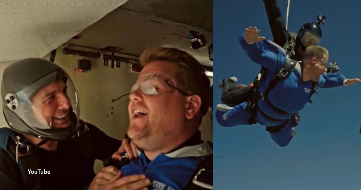 cov 2 25.png?resize=300,169 - Tom Cruise obligó a un presentador a saltar en caída libre desde 4.500 metros de altura, mira el impactante momento