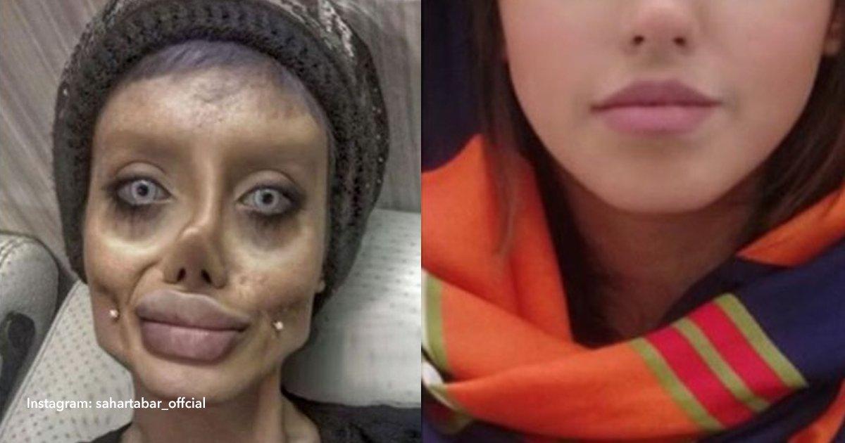cov 3 20.png?resize=1200,630 - A 'Angelina Jolie zumbi' revela a verdade de suas fotografias ... E é assim que seu verdadeiro rosto parece: