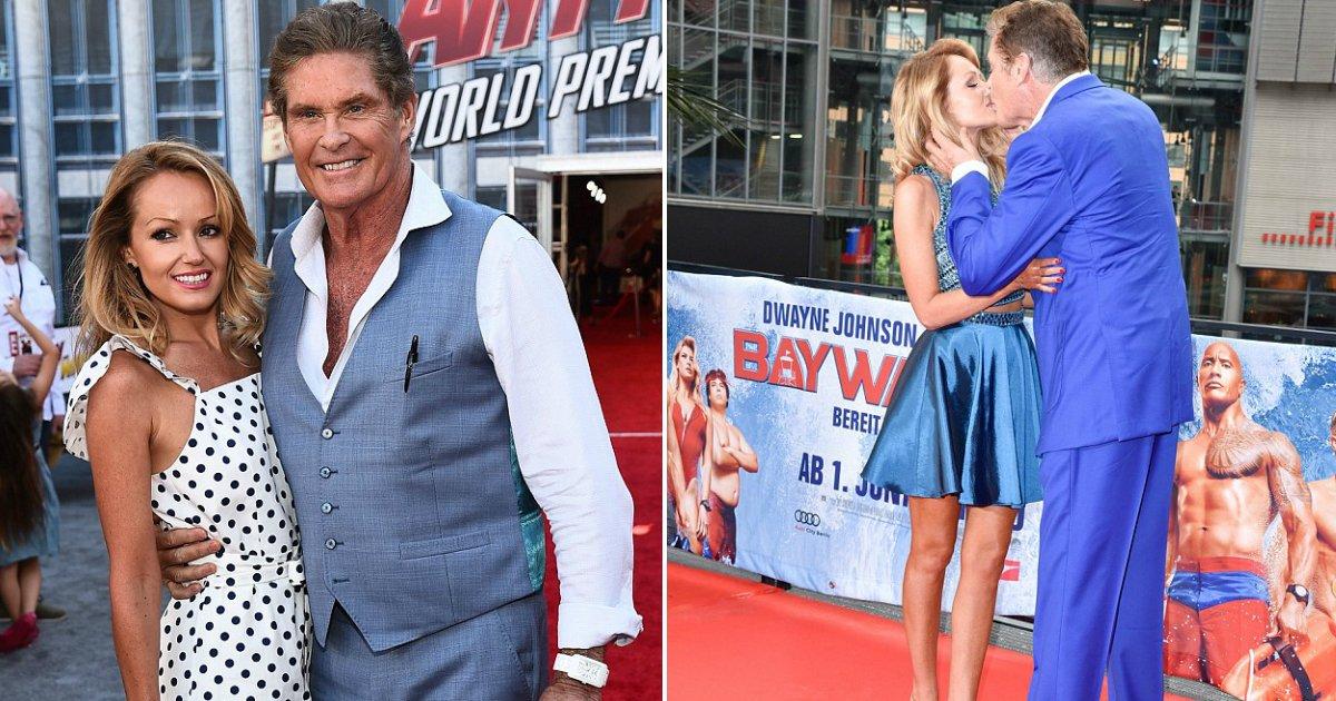 david hasselhoff.jpg?resize=648,365 - David Hasselhoff, 65 ans, a épousé Hayley Roberts, 37 ans, lors d'une cérémonie italienne intime