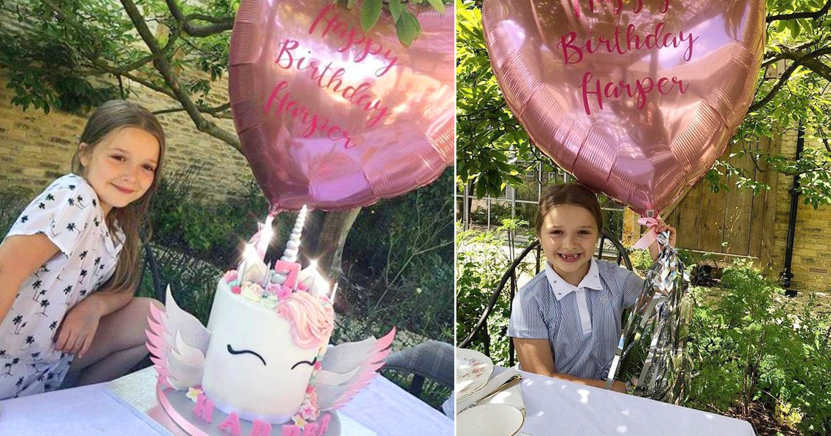 david victoria harper beckham.jpg?resize=636,358 - David and Victoria Beckham's Only Daughter Harper Turned Seven, Treated To A Fun Pony Ride, Lavish Tea Party And A Unicorn-Themed Birthday Cake