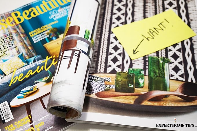 House magazines with WANT post it