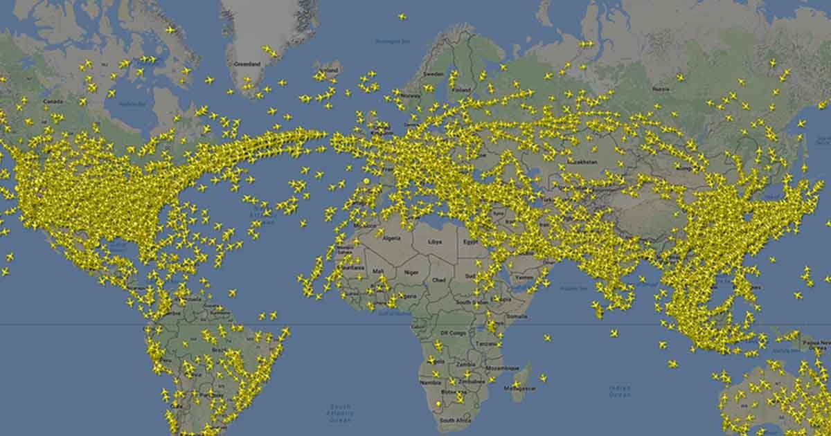 dfafd.jpg?resize=636,358 - Last Week 'Friday' Records The Busiest Day In The Aviation History! Released Footage Shows More Than 200,000 Flights Were Airborne That Day