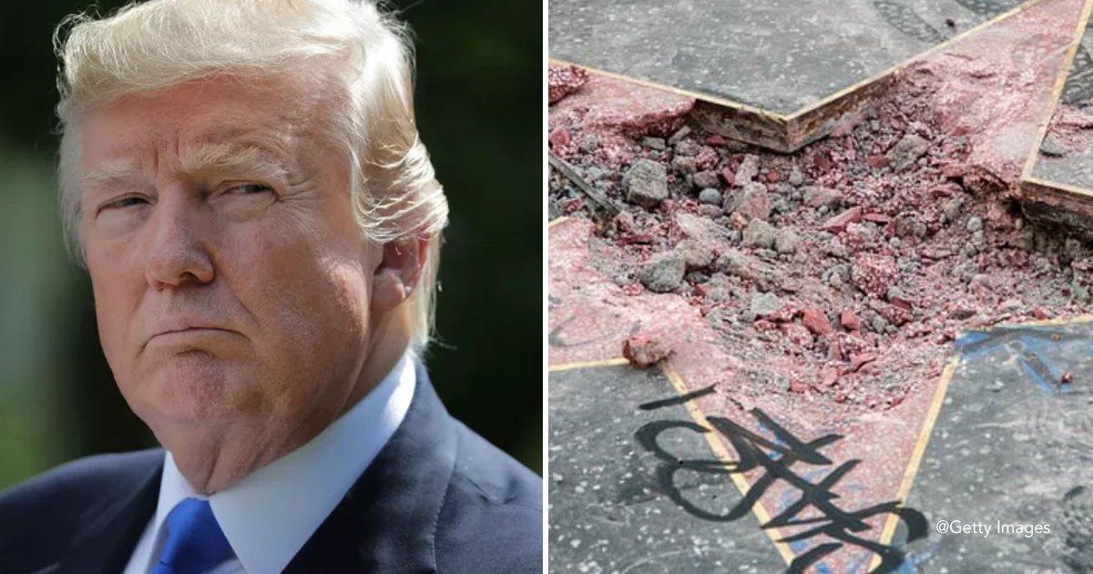dtaar.jpg?resize=300,169 - Destruíram a estrela da calçada da fama de Donald Trump mas a ironia maior veio depois disso