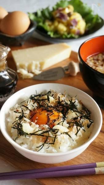 かつお節×パルミジャーノの卵かけごはん에 대한 이미지 검색결과