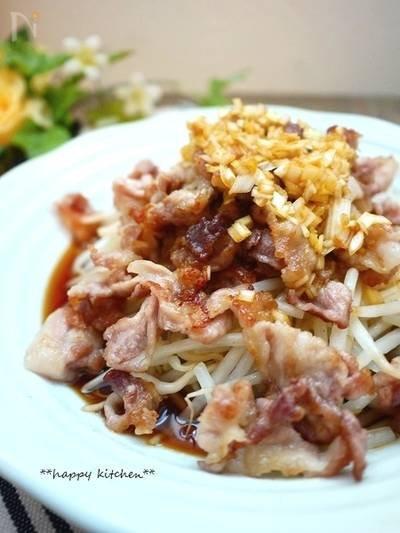 カリカリ豚肉ともやしのネギ醤油ダレかけ에 대한 이미지 검색결과