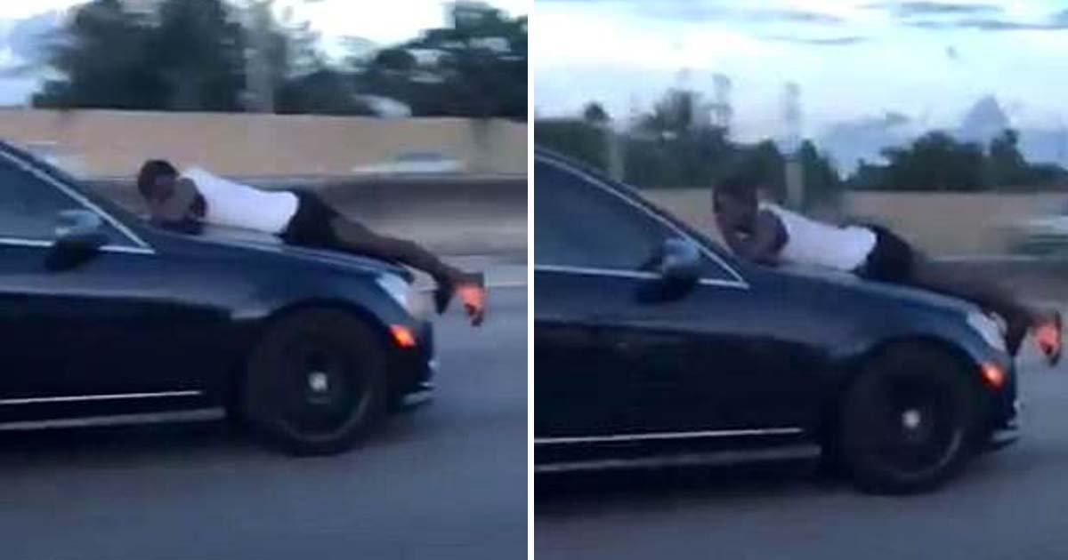 ebacb4eca09c 2 ebb3b5ec82ac.jpg?resize=636,358 - Woman Rushes On Highway With Her Ex-Boyfriend Hanging Onto The Bonnet Of Her Car