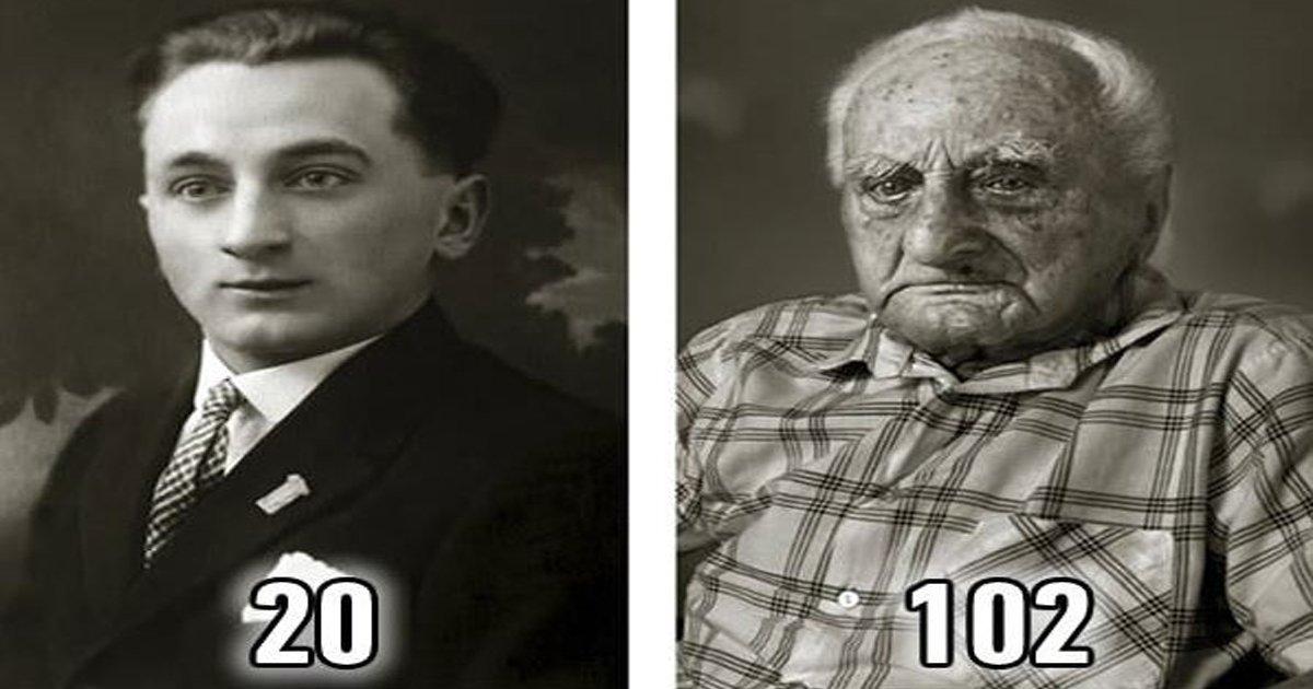 ebb984eab590.jpg?resize=1200,630 - 100세 넘긴 '장수 노인'들의 20대와 100대 '비교샷' 모음 (사진 12장)