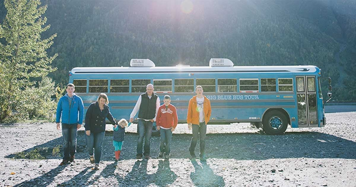 family tour bus f.jpg?resize=1200,630 - Six-Person Family Converts Old School Bus Into Home