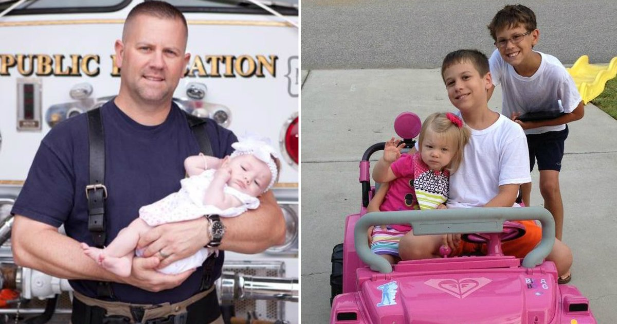 firefighter adopt.jpg?resize=412,232 - Un pompier aide à mettre au monde un bébé et finit par l'adopter comme le sien
